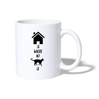 home is where my cat is tasse