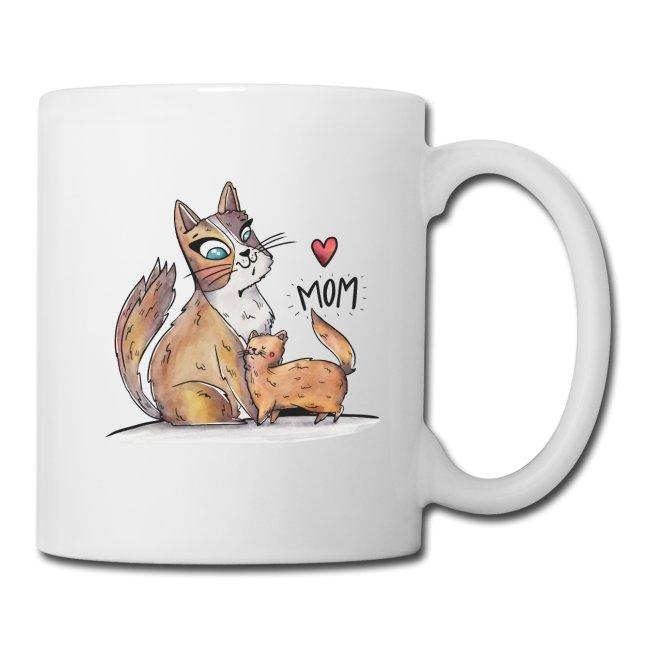 Katzenfamilie Tasse